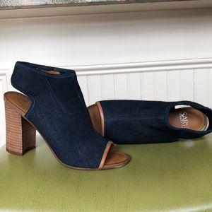 Denim heels